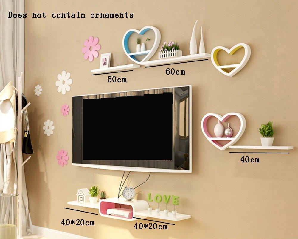 ALUS- Modern Simplicity Wood-based Panels Wall Shelf/bookshelf/Floating Shelf/Plant Stand /Flower Racks, Creative Living Room Wall Hanging TV Backdrop Decorative Frame