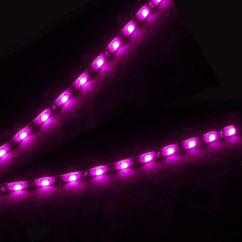 Mintice/™ 5 X rosso 12V striscia luminosa sottoscocca impermeabile flessibile 15 LED 30 centimetri auto veicolo auto griglia