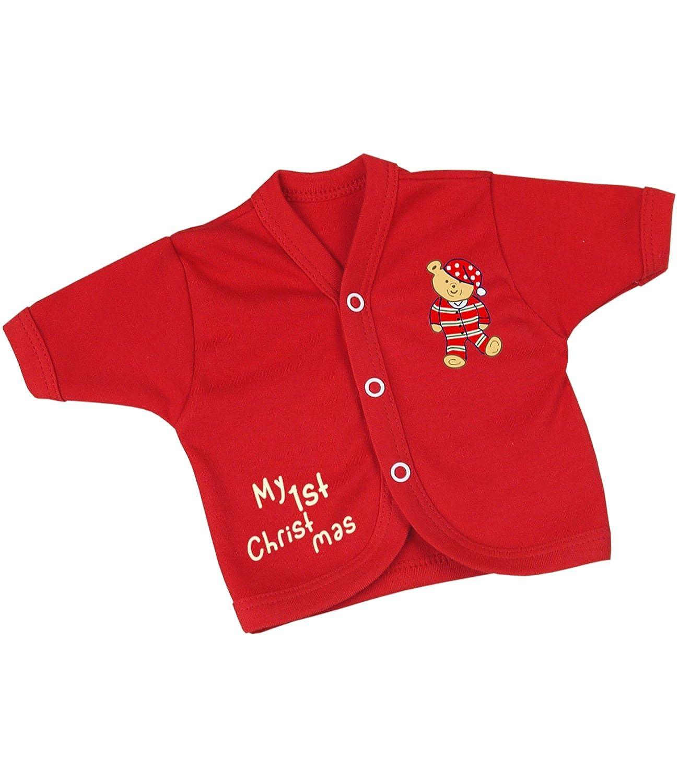 BabyPrem Frühchen Baby Jäckchen Weihnachten Kleidung Mädchen Jungen Rot 32-50cm CR024