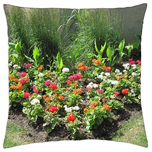 ArtsLifes Colorful Flowers a garden makeup 91 - Throw Pillow Cover Case