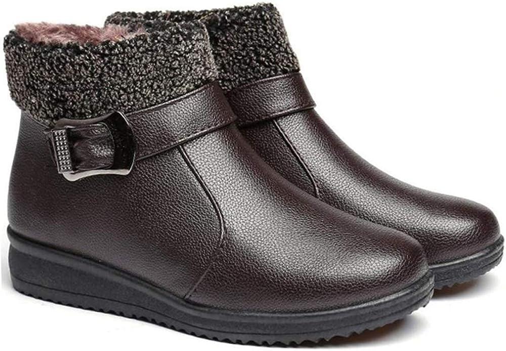 Donna Stivali Invernali Similpelle Outdoor Bassi Scarpe Stivaletti con Pelliccia Caloroso Caviglia Boots Impermeabile Comodi Leggeri
