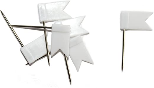Markiernadeln Fähnchen Stecknadeln Nadeln Pinnwand Fahne 100 Stück