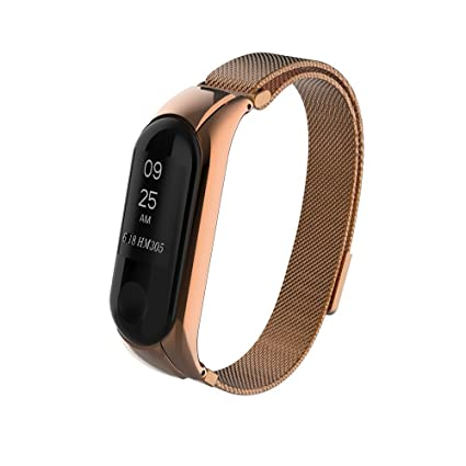 Amazon.com: Barthylomo Xiaomi Mi Band 3 Milanese Stainless Steel ...