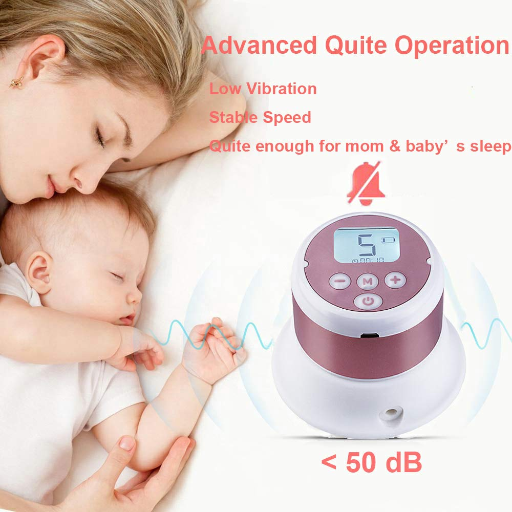 Dual Use Battery Baby Milk Pump Rechargeable Single Breastfeeding Pump with Adjustable Massage /& Suction Level and Backflow Protector,10pcs Free Storage Bags Included Portable Electric Breast Pump