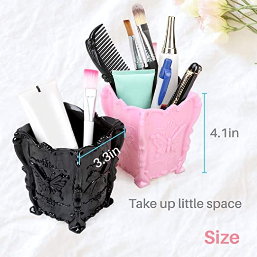Alice Windowshop Makeup Organizer Box Makeup Brush Holder Organizer Makeup Storage Organizer Box Case Containers Pen Holder Desk Organizer Pencil Pen Holder for Desk Purple
