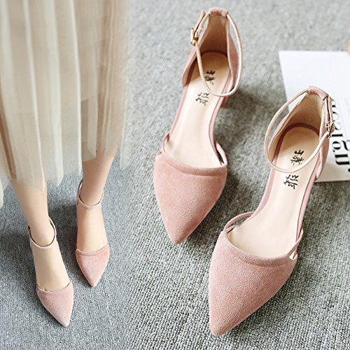À Des Et Femmes Baotou SHOESHAOGE Souliers Dans Épais Sandales Avec L'High Heel Chaussures Fente Creux Points Sandales EU34 Femme OIIwqRY