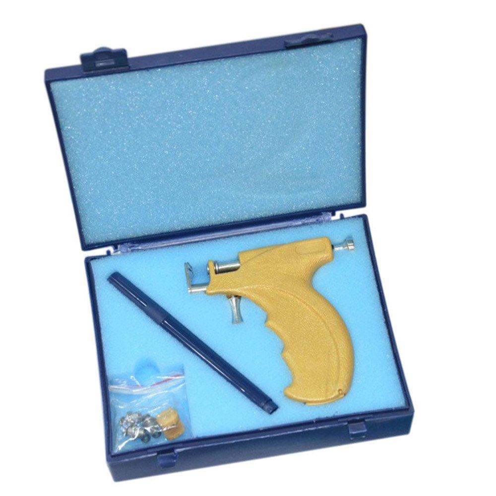 Anself Kit de Pistola Perforadora Acero Inoxidable/Kit de Pistola de Perforación Corporal W6555-0L79IY