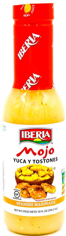 Iberia Mojo for Yuca and Tostones 10 oz, Spanish Marinade, Enjoy with Iberia Plantain Chips & Tostones.