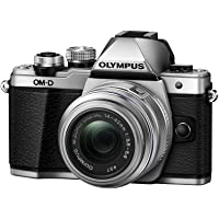 Olympus OM-D E-M10 Mark II, Mirrorless Digital Camera with 14-42mm, R Lens, Silver