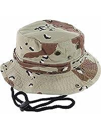 DealStock 100% algodón Boonie Pesca cubeta Gorro Safari Verano Cadena Hombre  Pac (15 + 5cfa43fb75d
