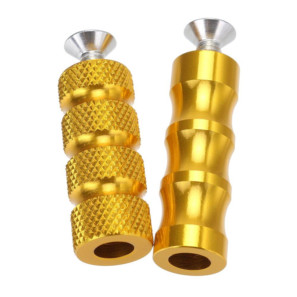 6mm CNC Fussrastenanlage Pedal NOVSIGHT Brems /& Schalthebel Schaltpedal Hinten Pedal Schwarz