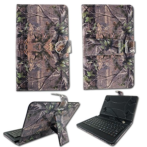 "Camo Green Leaves Case For RCA Voyager 7 inch 7"" Tablet K..."