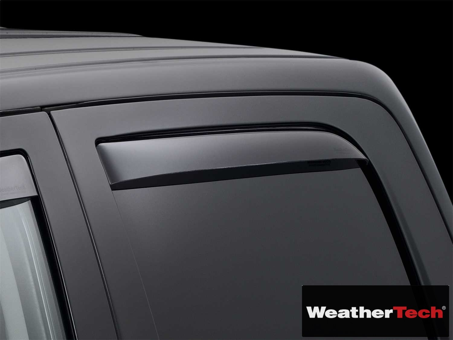 Side Window Deflector Visor Rainguard Rear Dark Tint Rear Only Fits Weathertech fits Ram 1500 Crew Cab 11 12 13 14 15 16 17 18 WEA109741-HR 2011 2012 2013 2014 2015 2016 2017 2018