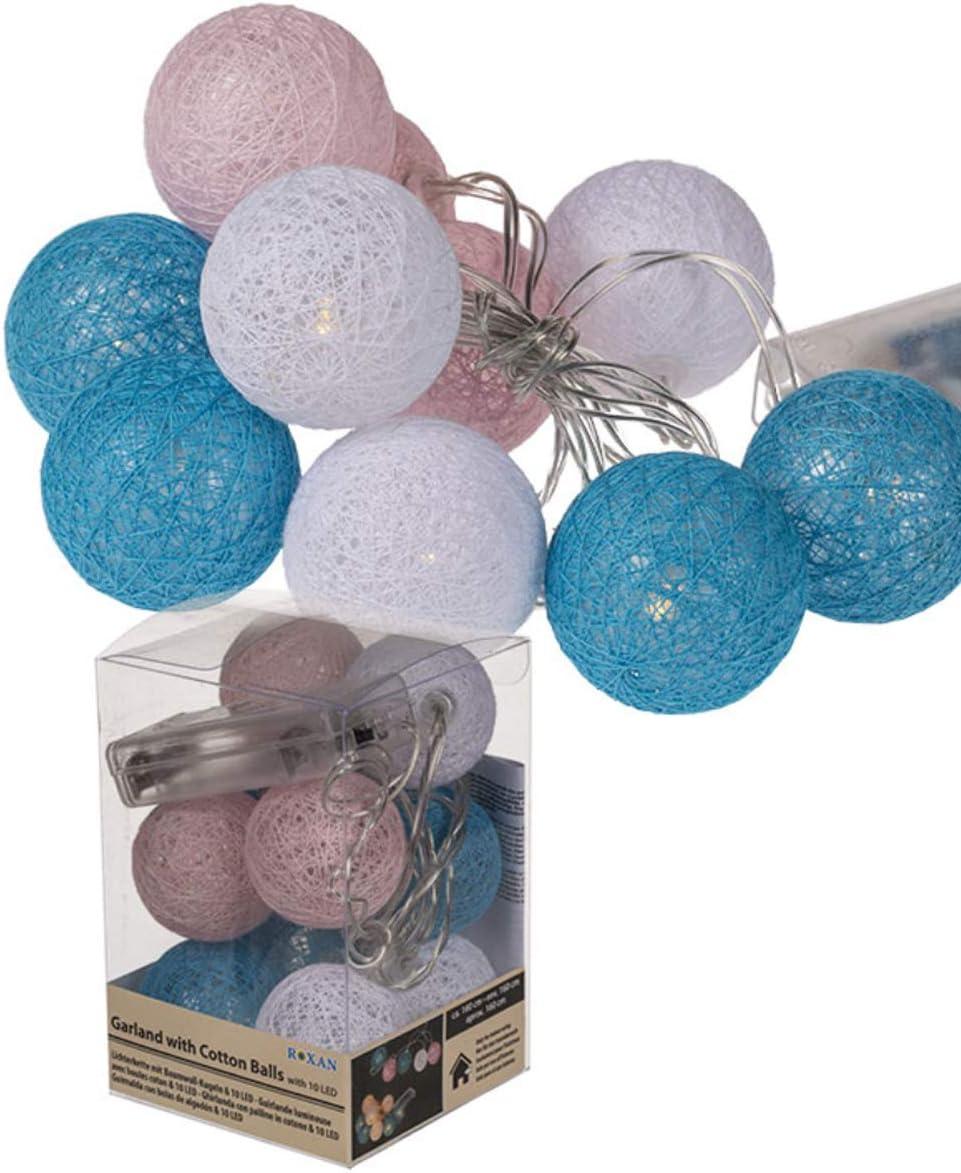 Guirnalda de bolas de algodón decorativa y decorativa de aprox ...