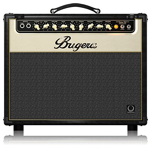 22w Guitar Tube Amplifier - BUGERA V22-INFINIUM 22-Watt Vintage 2-Channel Combo with Infinium Tube Life Multiplier Brown & Cream (V22INFINIUM)