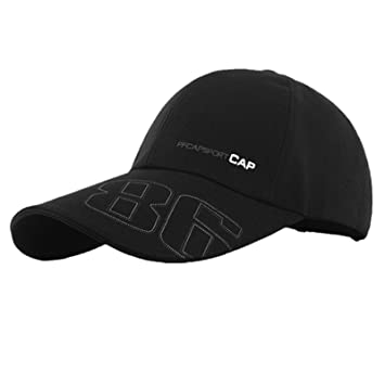 911023e1497 Healtheveryday100% Cotton Men Women Fitted Curved Bill Plain Solid Blank  Baseball Adjustable Cap Caps Hat Hats (Black)