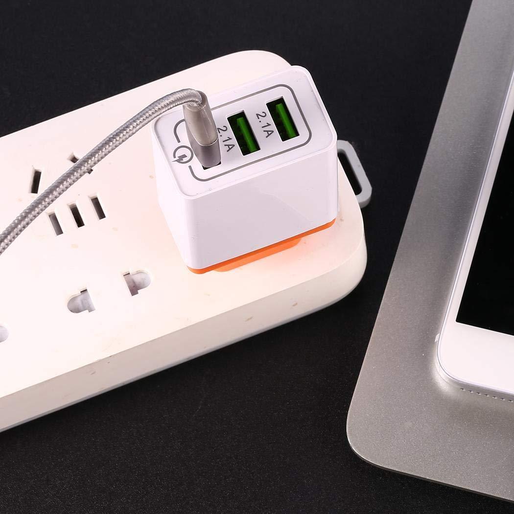 Jintes Cargador R/ápido 3.0 USB 3 Puertos Adaptador de Cargador R/ápido de Viaje en Casa de Pared de Tel/éfono M/óvil Fundas para Cargadores
