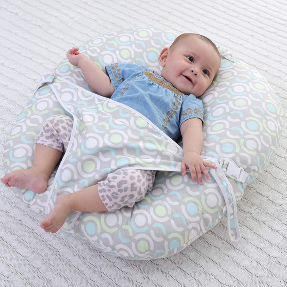 Nursing Pillow Covers,Gosear U-Shaped Soft Breastfeeding Nursing Pillow Cushion Positioner with Small Headrest for Infant Newborn Babies