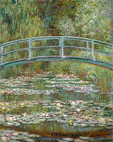 Bridge over a Pond of Water Lilies - Masterpiece Classic - Artist: Claude Monet c. 1899 (12x18 Collectible Art Print, Wall Decor Travel - Bridge Pond Over