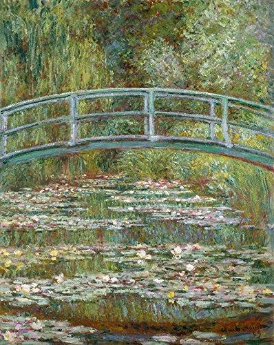 Bridge over a Pond of Water Lilies - Masterpiece Classic - Artist: Claude Monet c. 1899 (12x18 Collectible Art Print, Wall Decor Travel - Pond Bridge Over