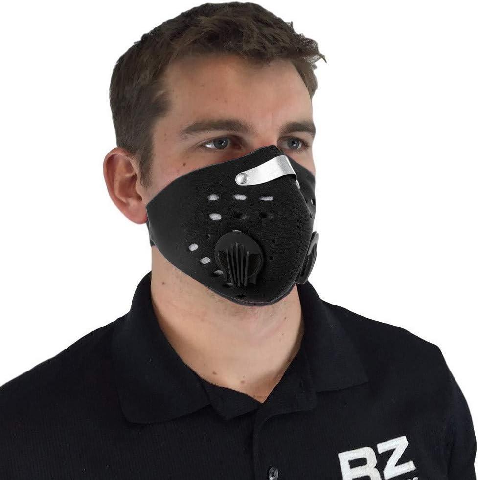 Youlala Máscara Deportiva Antipolvo, máscara de Media Cara para Deportes al Aire Libre, máscara de carbón Activado de 3 Capas, Transpirable y cómoda para Ciclismo, Carrera y Deporte al Aire Libre