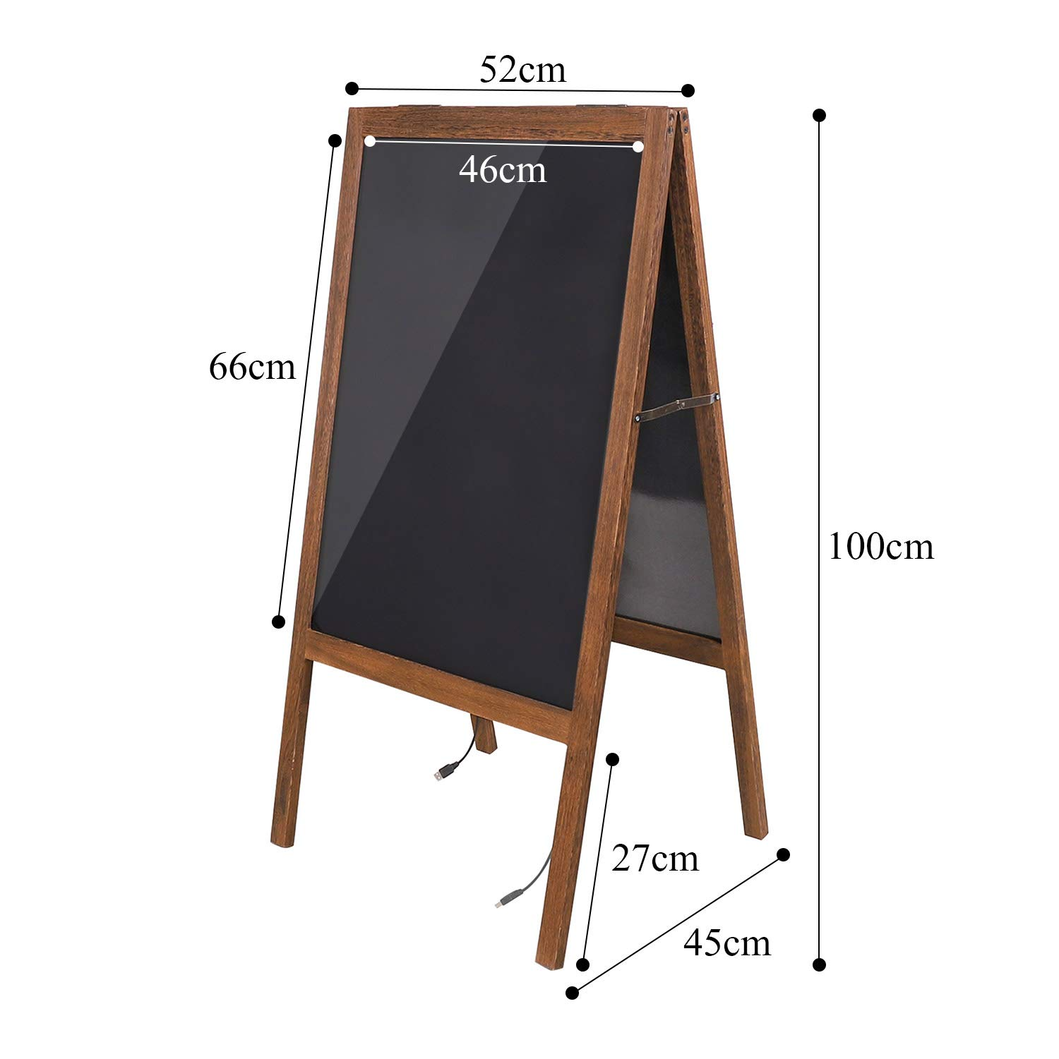 LUVODI LED Message Writing Board, 39.4'' x 20.5'' Double Sided Illuminated Erasable Neon Effect Glass Surface Restaurant Menu Sign with Stand Kid DIY Painting Chalkboard 4 Flashing Mode for Bar, Kitchen by LUVODI (Image #4)