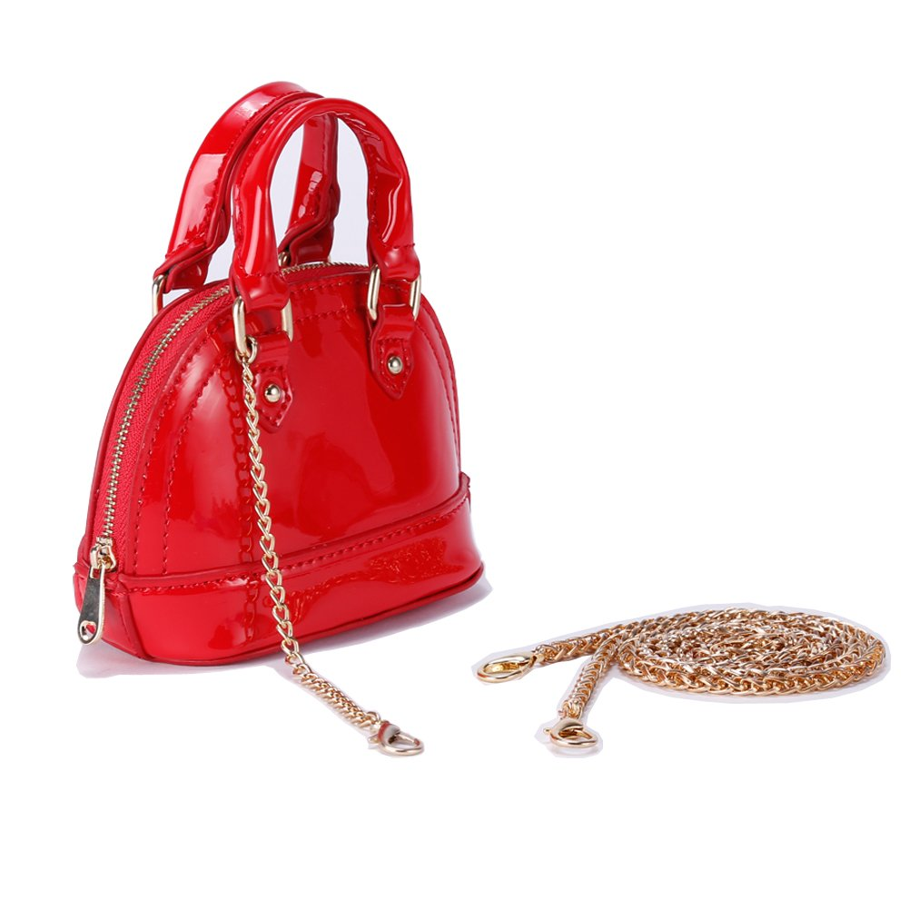 OMAYSAA New Design Fashion Girls Cute PU Tote Messenger Bag Super Cute Shoulder Bag Girls Gifts (red 101)
