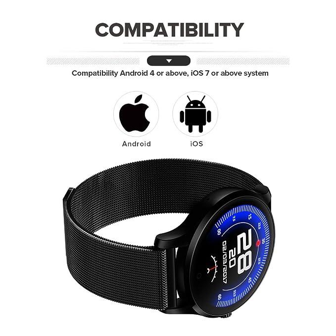 NEWBEN K88 Reloj Inteligente con Cámara Smartwatch Bluetooth 4.0 ...