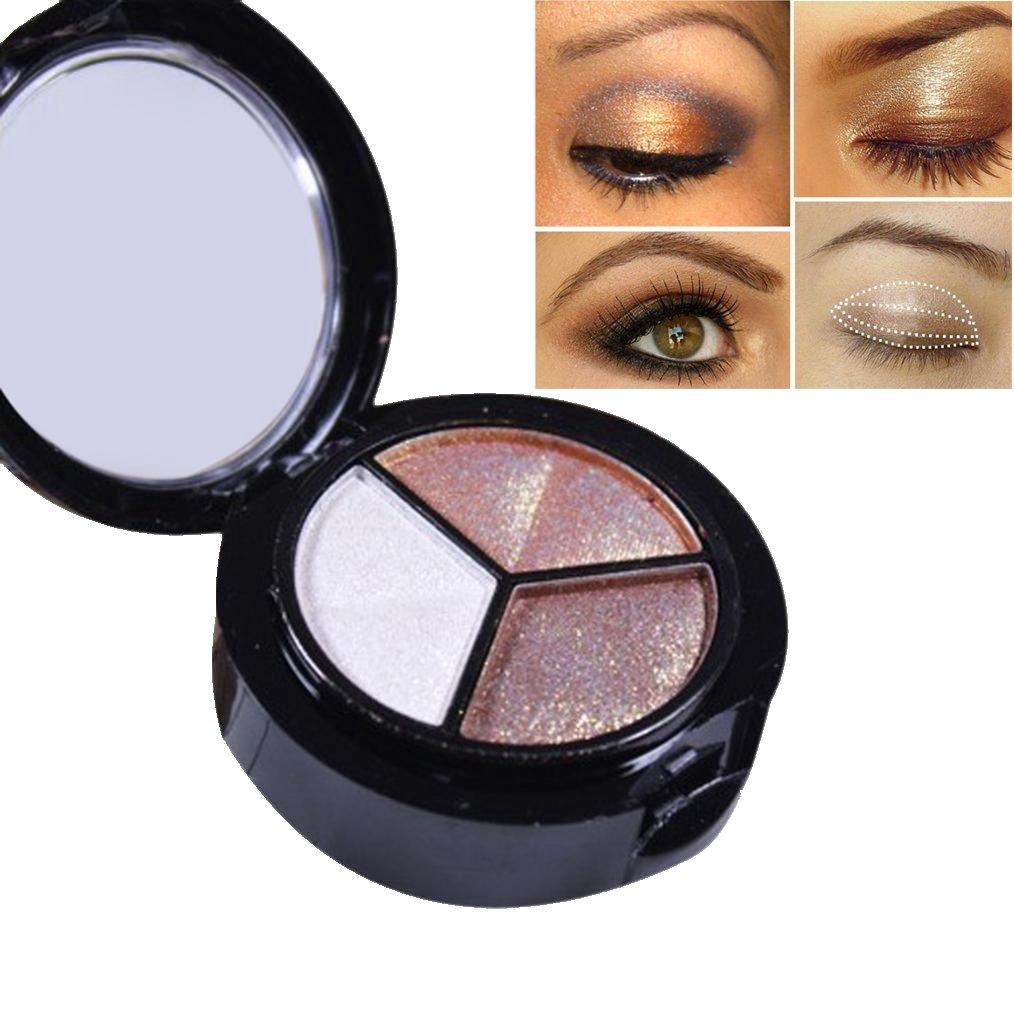 Eyeshadow Palette Makeup Matte Shimmer 3 Colors Shimmer Glitter Eye Shadow Powder