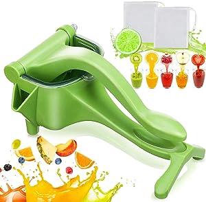 Jeteven Manual Fruit Juicer, Hand Press Lemon Squeezer Hand Juicer Squeezer Manual Citrus Press Juicer Fruit Citrus Extractor Tool for Orange, Limes, Lemon (Green)