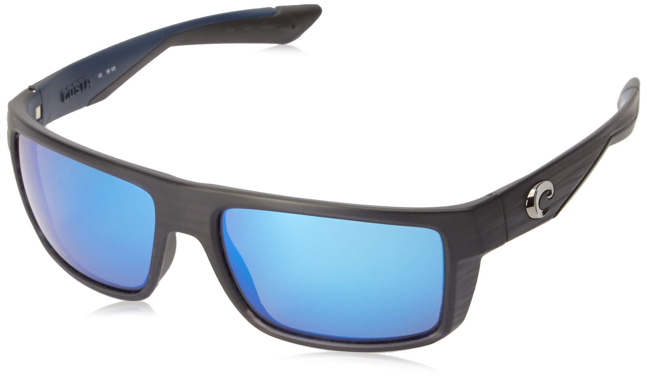 Costa Del Mar Motu Sunglasses, Black Teak, Blue Mirror 580 Glass Lens by Costa Del Mar