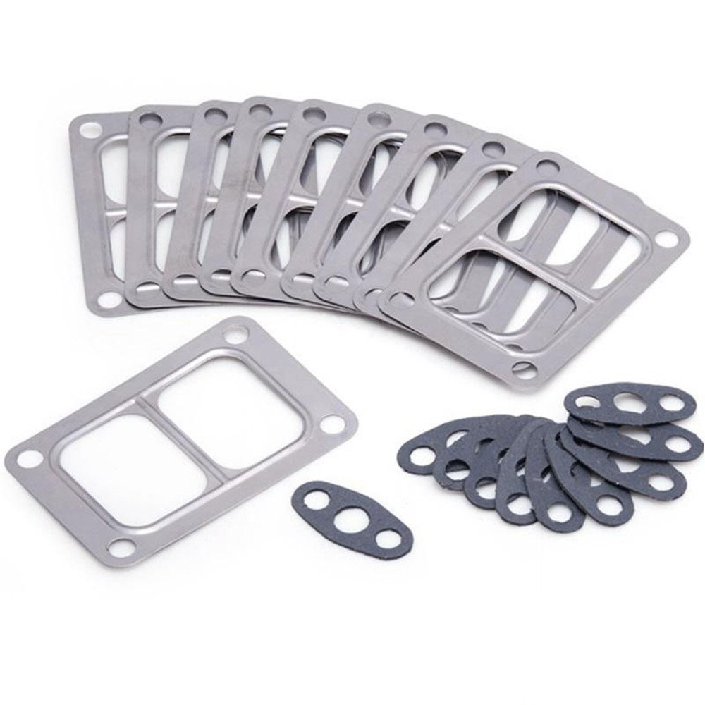 10pcs T6 Turbo Gasket Kit for Holset HX50 Turbine Inlet Oil Outlet YiPin EP-CGQ60D