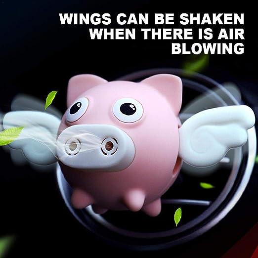 Wonderfulwu Auto Lufterfrischer Dekoration Innovativer Süßer Süßer Fliegender Schweine Duft Für Den Innenbereich Rose Auto