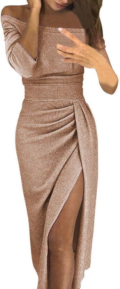 Beladla Vestido Fiesta Mujer Elegante Largo Mujers OtoñO Elegante Mini Vestido Ajustado De Moda Lentejuela Manga Larga V Profunda Vestido De CóCtel (Naranja, L): Amazon.es: Ropa y accesorios