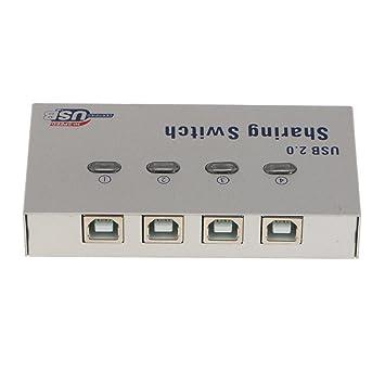 Amazon.com: MagiDeal 4-Port USB 2.0 Auto Sharing Switch Hub Easy
