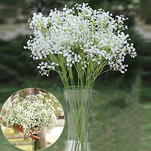 Artificial Lifelike Single Stem Rose Flower Wedding Party Craft Decor (Blue) - 8