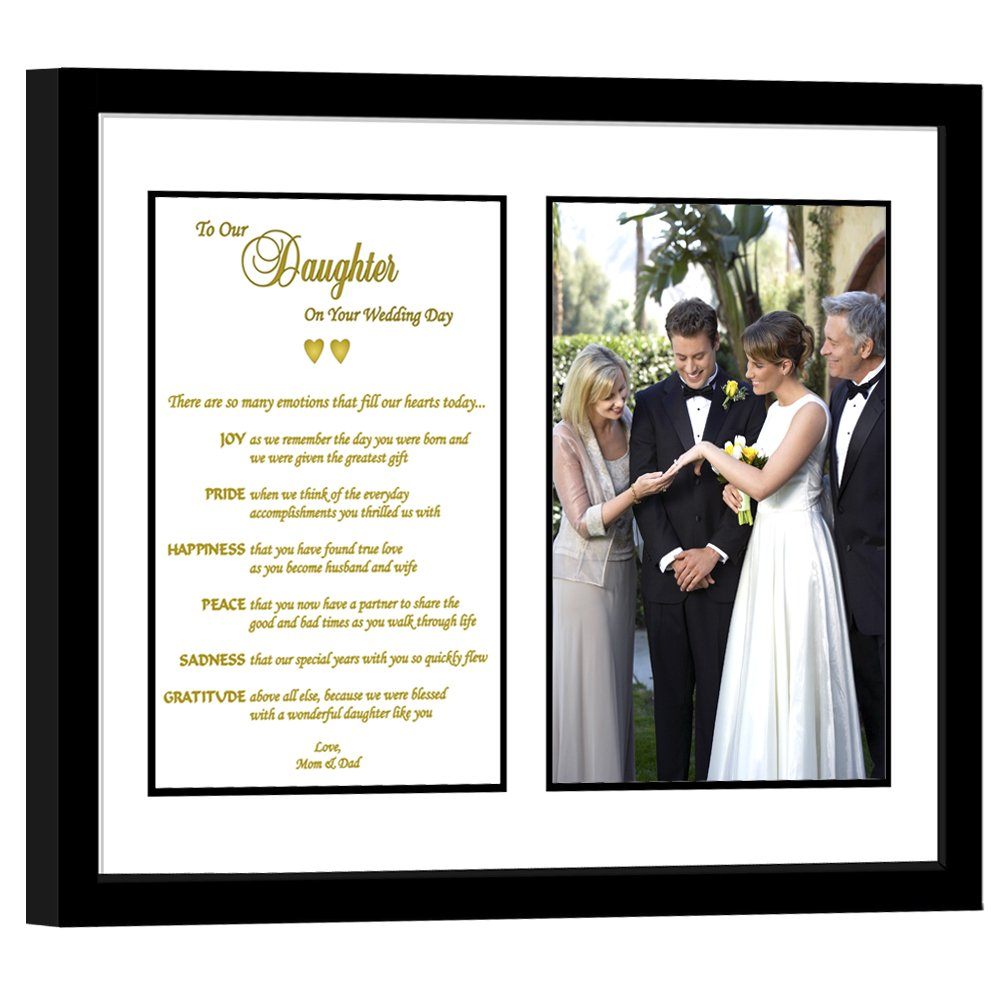 Amazoncom Daughter Wedding Gift From Parents Touching Poem From