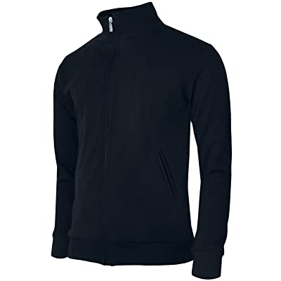 BCPOLO Men's Jersey Cotton Jacket Full Zip-up Style