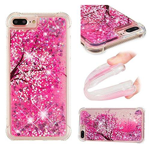 - iPhone 8 Plus/7 Plus/6S Plus/6 Plus Case, UZER Shockproof Series Cartoon Cute Bling Quicksand Liquid Moving Twinkle Glitter Sparkle TPU Bumper Case for iPhone 8 Plus/7 Plus/6S Plus/6 Plus 5.5 Inch
