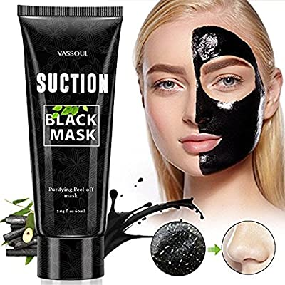 Black Mask Blackhead Remover Purifying Black Peel Off Mask, Activated Charcoal Deep Cleansing Facial Acne Pore Cleaner by Gemmaz 60g