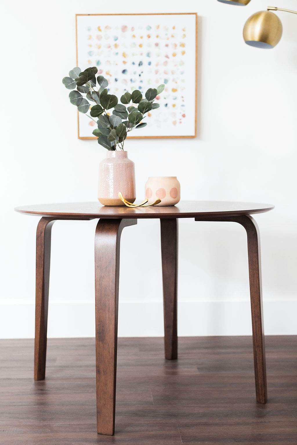 Edloe Finch YUMI Mid-Century Modern Round Dining Table Kitchen Walnut by Edloe Finch (Image #2)