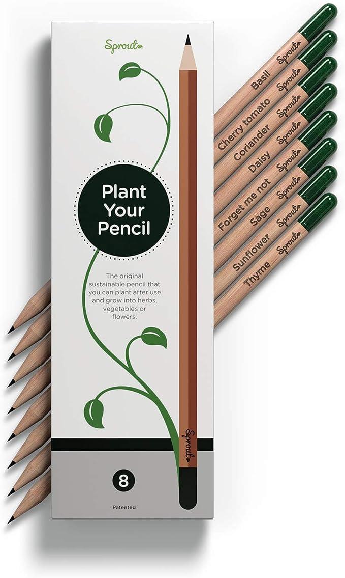 Plantas de lápices? Exactamente – una vez que su lápiz Sprout ya no es adecuado para pintar, dibujar o escribir, puede plantarlo en una maceta, en el balcón o en su jardín