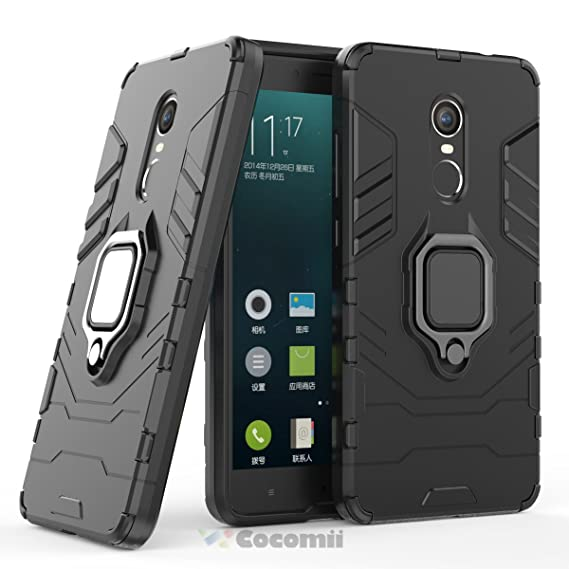 new concept 35cd7 f1f57 Cocomii Black Panther Armor Xiaomi Redmi Note 4/Note 4X Case New [Heavy  Duty] Tactical Metal Ring Grip Kickstand Shockproof [Works with Magnetic  Car ...