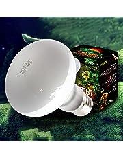 juxinuk 1pc Reptile lampe de chauffage Full Spectrum Uva Uvb Sunlamps pour reptiles animaux (75W)