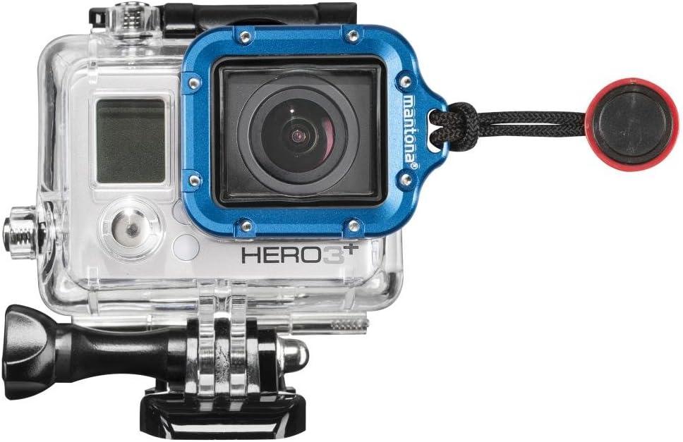 Mantona Linsenring Für Gopro Hero 3 Blau Kamera
