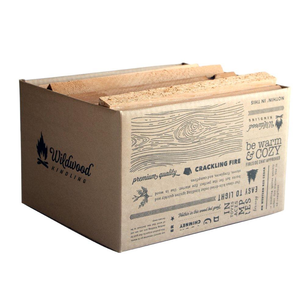 Wildwood Kindling - Kiln-Dried Cedar Kindling - Medium Hearth Box by Wildwood Kindling