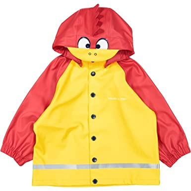 49db8f1696fd Amazon.com  Polarn O. Pyret RED Rooster RAIN Coat (Baby) - 1-2 Years ...