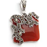 """Sweet & Happy Girl'S Store Drip Agate Beads Tibetan Silver Base Pendant Necklace"""" Jewelry Making Pendant Necklaces"""
