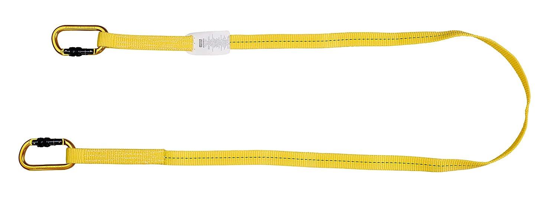 Mosquetones acero con cierre rosca Elemento de amarre restrictivo de protecci/ón antica/ídas Workman de MSA Longitud ajustable de 2 m EN 358 Banda textil