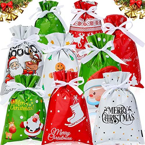 Bolsas de plastico para regalos de Navidad 16 x 24 cm 36 uni